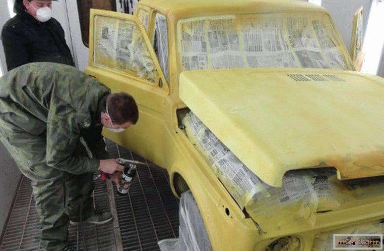 как самому покрасить машину раптора